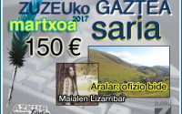 Maialen Lizarribarrek erdietsi du martxoko Zuzeu GAZTEA saria