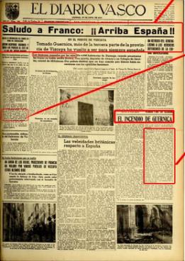 Diario Vasco eta Gernikako bonbardaketa