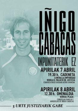 Iñigo Cabacas, bost urte justiziarik gabe