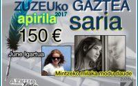 June Igartuak lortu du apirileko Zuzeu GAZTEA saria