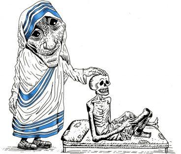 Trump, Castro eta Dylan, karikatura bat