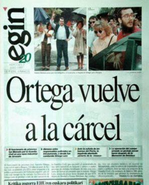 Eginek Ortega Lara kartzelara bueltan bidali zuenekoa
