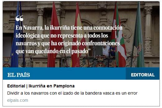 Iruñeko zezen plaza, ikurrina bihurtua