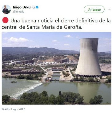 Garoñaren kontra, nuklearren alde?