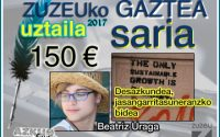 Beatriz Uragak lortu du uztaileko Zuzeu Gaztea Saria