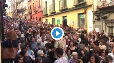 Madrilgo kaleak bete dira kataluniarren autodeterminazioaren alde