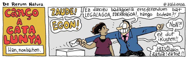 Kataluniak independentzia aldarrikatzen badu...