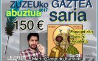 Martin Gregorio Iturraldek irabazi du abuztuko Zuzeu Gaztea Saria