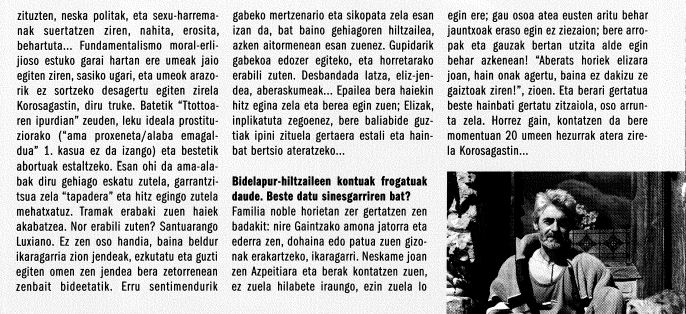 """Euskal gaizkileak: Itziarko Luxiano, """"Mekatxis"""""""
