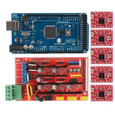 RAMPS eta Arduino Mega plakak