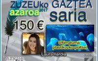 Laura Ilardiak eskuratu du azaroko Zuzeu GAZTEA Saria