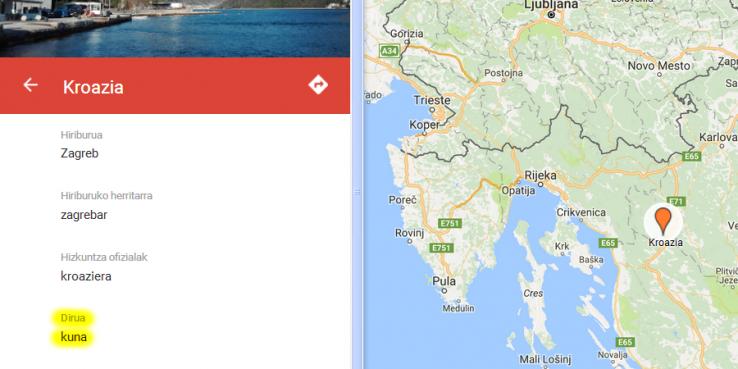 Mundua, euskaraz; diru-izenak ere bai