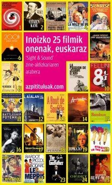 Inoizko 25 filmik onenak, euskaraz