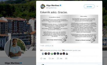 Iñigo Martinezen euskalkiak Real-Athletic etsaitasuna eklipsatu zuenekoa