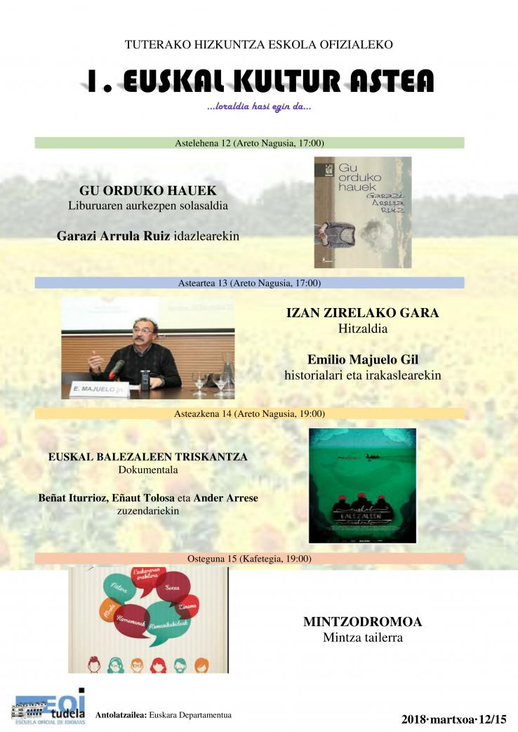Euskal kultur astea (Tutera)