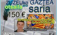 Raul Nuñez Gastonek erdietsi du otsaileko Zuzeu Gaztea Saria