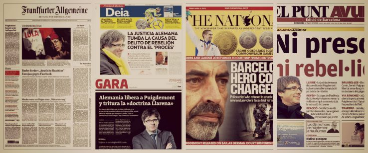 Alemaniak Puigdemont aske utzi eta biharamuneko egunkarien azalak