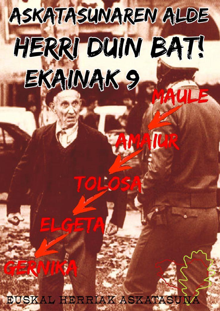 Ekainak 9: Askatasunaren alde, herri duin bat!