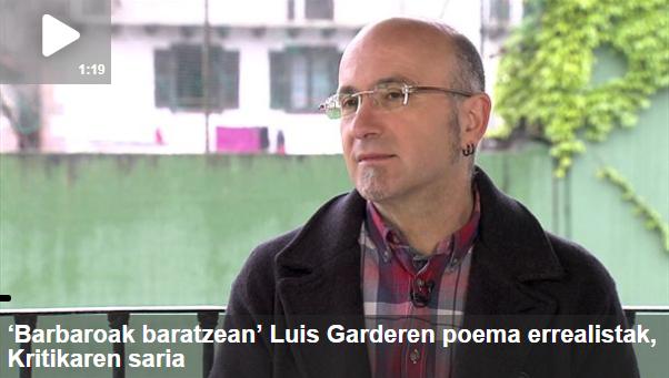 """Arte[faktua] 16: Luis Garde, """"Barbaroak baratzean"""", Juanra Makuso, """"Hegiko bordatik"""" eta """"Amaia Ezpeldoi"""" pertsonaia"""