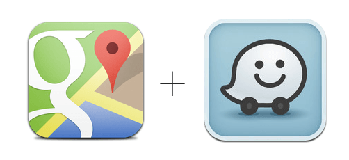 Google Maps eta Waze aplikazioak elkarlanean