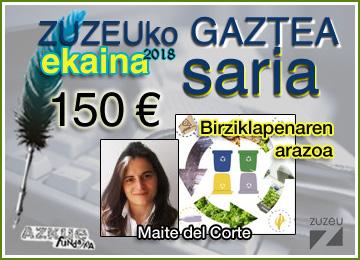 Maite del Cortek lortu du ekaineko Zuzeu Gaztea Saria
