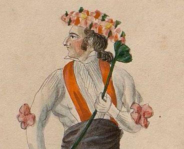 XIX. mendeko euskal jantzien eta dantzarien akuarelak