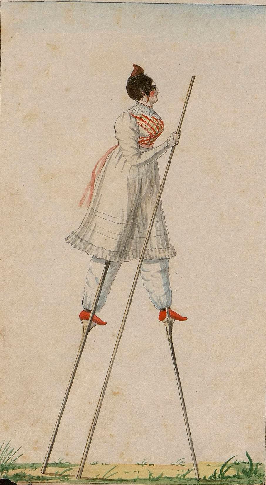 Landetako herritarra zangoekin, 1828.