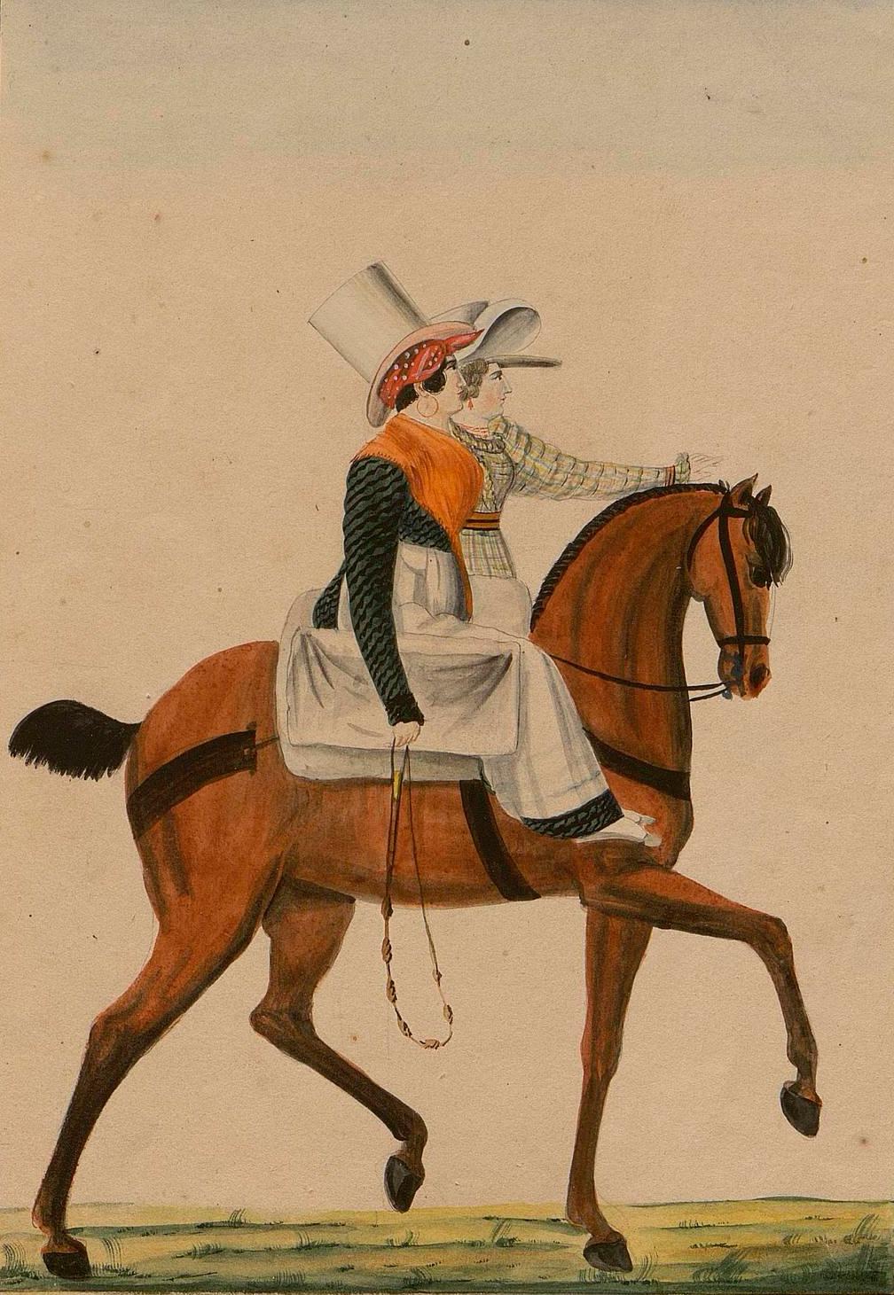 Euskaldunak kartoletan bidaiatzen, 1828.