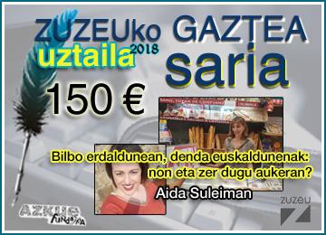Aida Suleiman-ek lortu du uztaileko Zuzeu Gaztea Saria