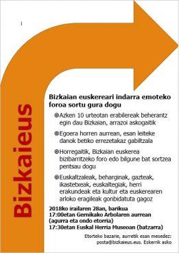 Bizkaieus: Bizkaian euskerea sustatzeko bilgunea