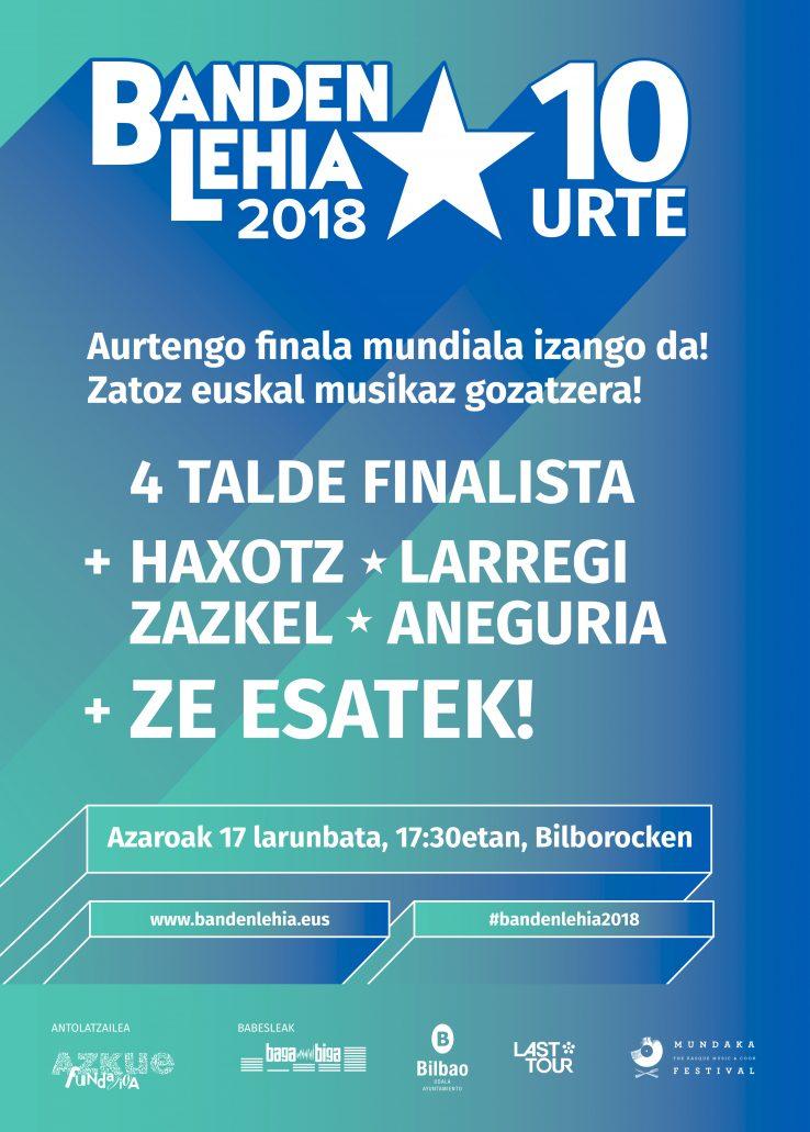 BELATZ, DEKOT, ZIZEL eta NAU Banden Lehiako 10. edizioko lau talde finalistak!