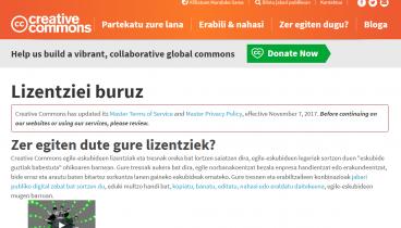 GPL eta Creative Commons lizentziak euskaraz!