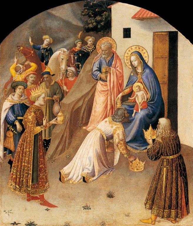 Magoen adorazioa, Beato Angelico, 1433, Florentzia.