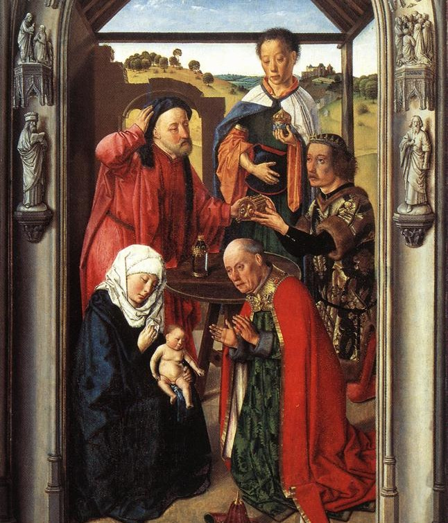 Magoen adorazioa, Dirk Bouts, 1445, Prado Museoa, Madril.
