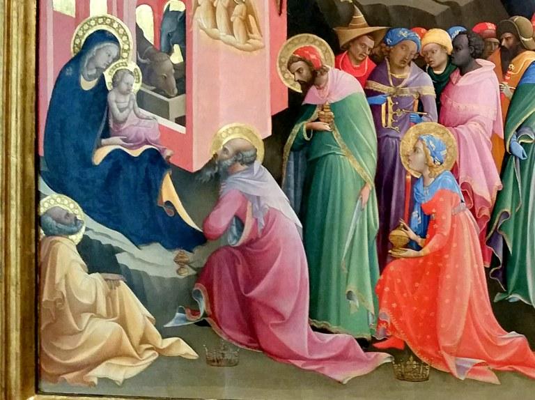 Magoen adorazioa, Lorenzo Monaco, 1420-1422, Uffizi galeria, Florentzia.