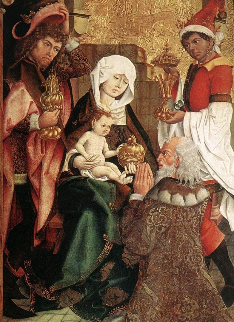 Magoen adorazioa, alemaniar maisu ezezaguna, 1470-80, Nuremberg.