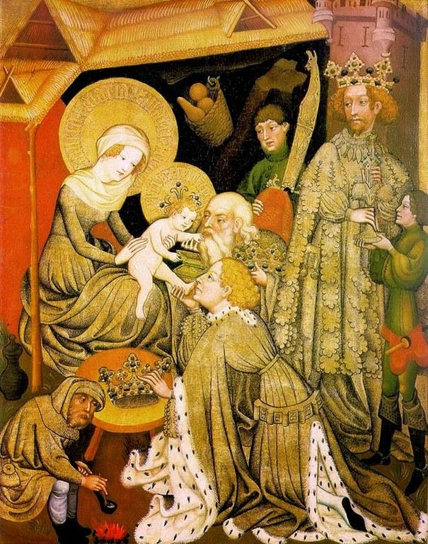 Magoen adorazioa, maisu alemaniar ezezaguna, 1420, Hessisches Landesmuseum, Darmstadt.