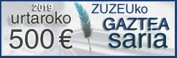Zuzeu Gaztea Saria berritua, 500 euro urtaro bakoitzean!