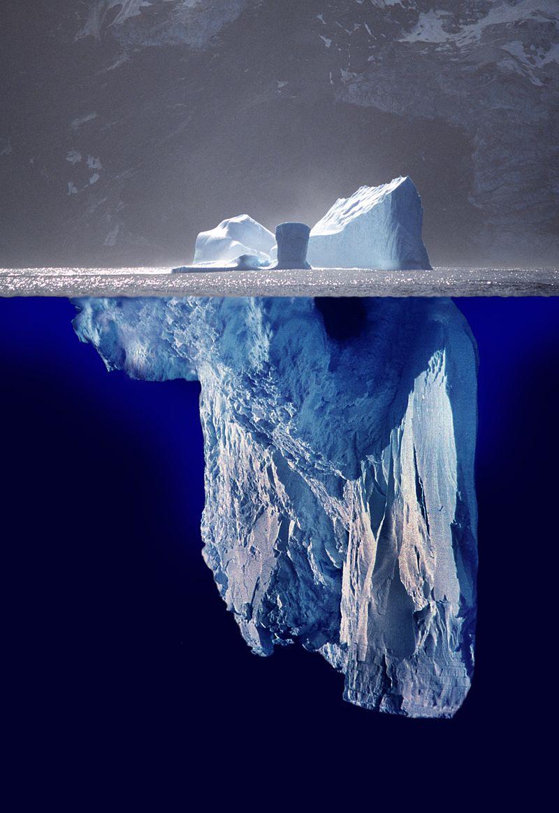 Nor dago icebergaren alde ezkutuan?