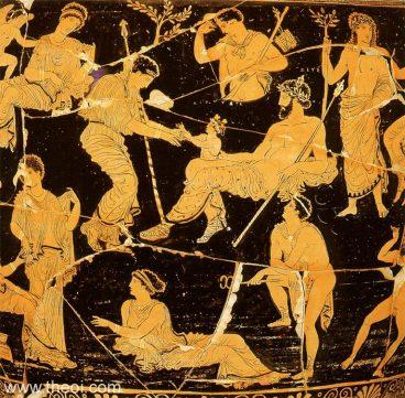 Hera eta Zeus aginte makilekin. Irudia: Tarantoko Arkeologia Museoa.