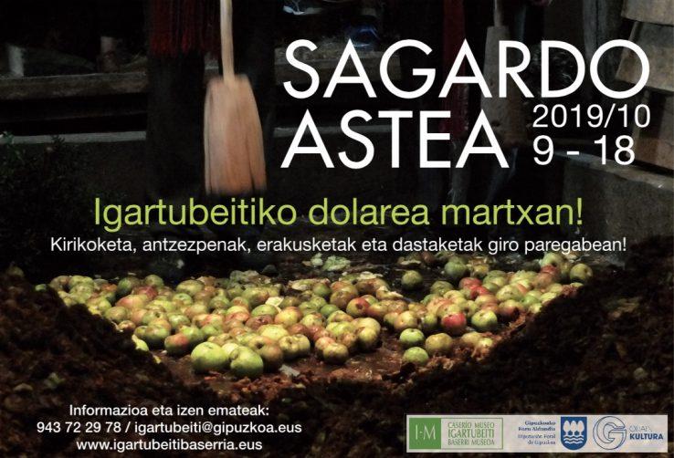 Igartubeiti Baserri Museoak Sagardo Asterik jasangarriena eta irisgarriena ospatuko du urriaren 9tik 18ra
