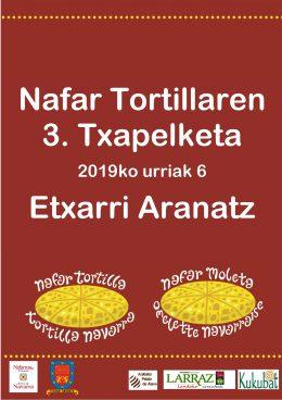Nafar Tortillaren III. Txapelketa urriaren 6an Etxarri Aranatzen