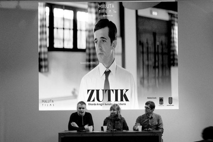 'Zutik' Rikardo Arregiri buruzko pelikula