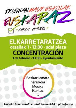 Iruñeko euskarazko haur eskolen defentsan