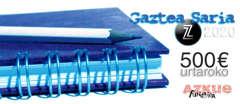 Koldo Edorta Carranzak irabazi du Neguko Zuzeu Gaztea Saria