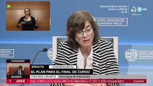 Cristina Uriarte Hezkuntza Sailburuaren agerraldia