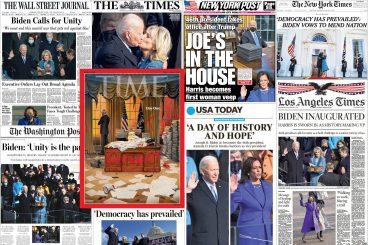 [Azalak] AEBetako Joe Biden presidente berria gaurko prentsaren azaletan