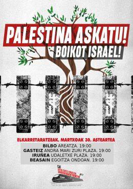 Palestinar Lurraren Eguna dela-eta, elkarretaratzeak