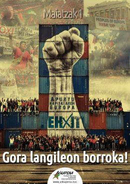 Maiatzak1. Langileon Europa eraikiz, apurtu kapitalaren Europa!