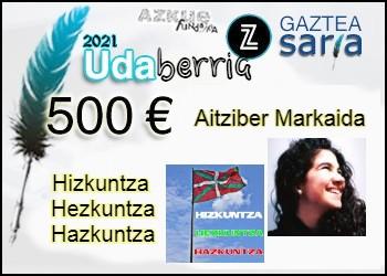 Aitziber Markaidak irabazi du Udaberriko Zuzeu Gaztea Saria